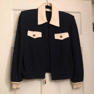 Navy St John Sweater Jacket